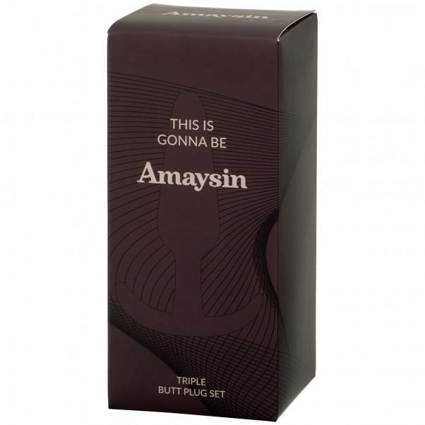 Amaysin Triple Butt Plug Sæt billede af emballagen 90