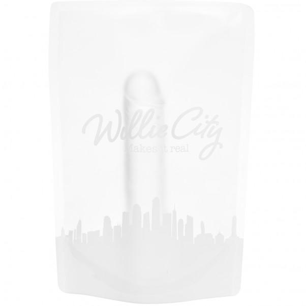 Willie City Realistisk Klar Dildo med Sugekop 18 cm  5