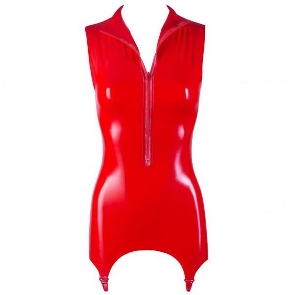 Late X Latex Skjorte med Hofteholder Rød  3