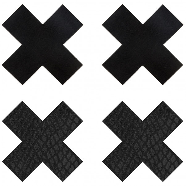 Peekaboos Nipple Stickers Kryds 2 pak  1