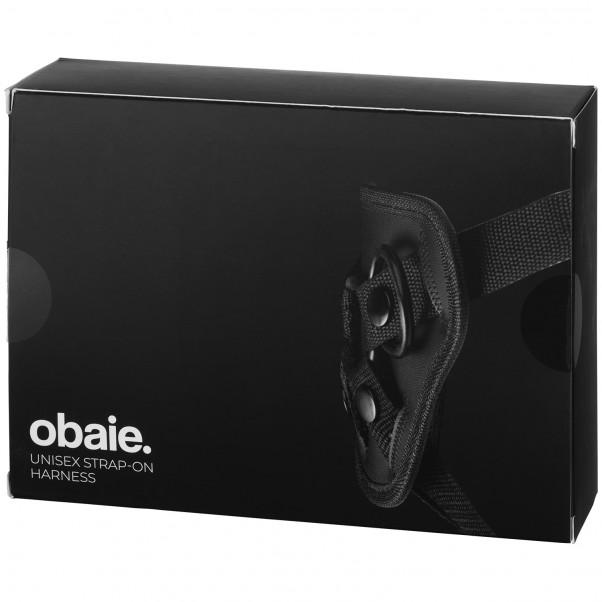 Obaie Unisex Strap-On Harness med Dildo billede af emballagen 90