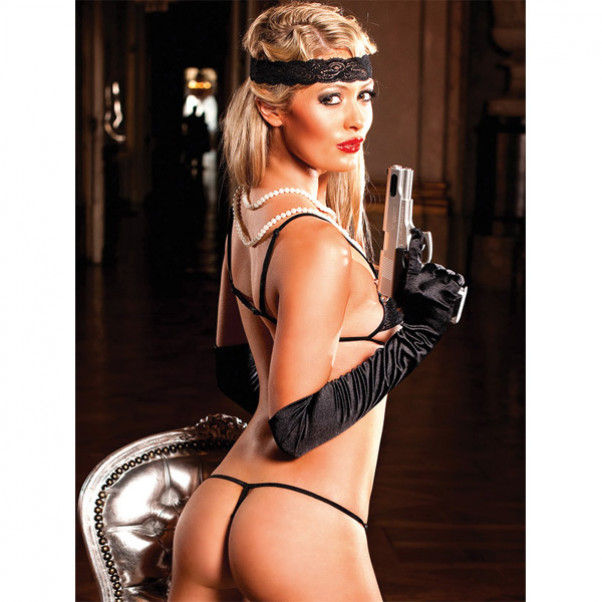 Baci Teddy Bodystocking Blonde Sort  3