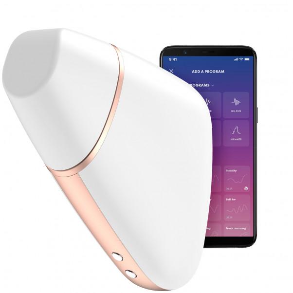 Satisfyer Love Triangle Hvid Klitoris Stimulator Produktbillede med app 1