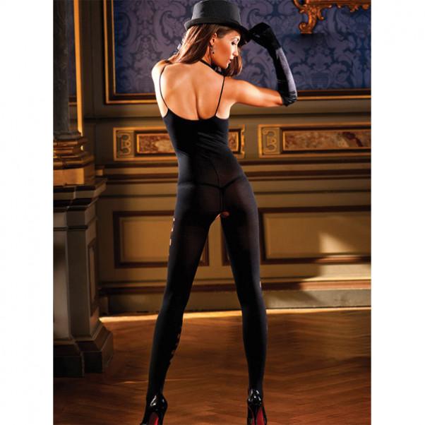 Sort bodystocking kvinde
