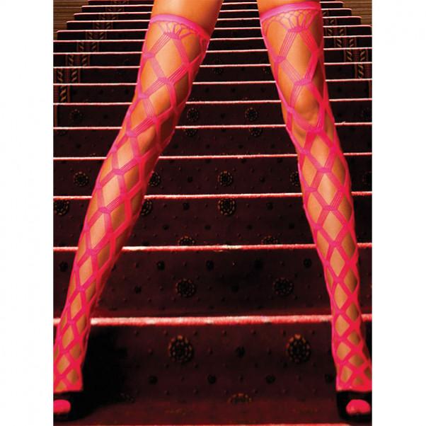 Baci Netstrømper Selvsiddende Neon Pink  1