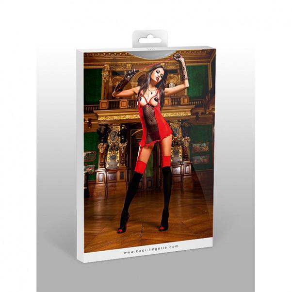 Baci Minikjole med Strømpeholdere Rød  3