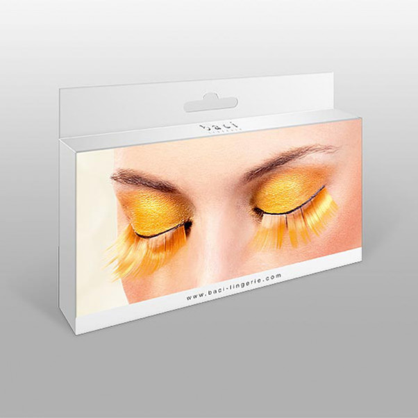 Kunstige Orange Øjenvipper
