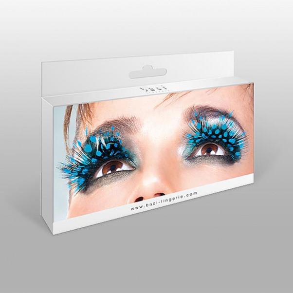 Blå kunstige øjenvipper
