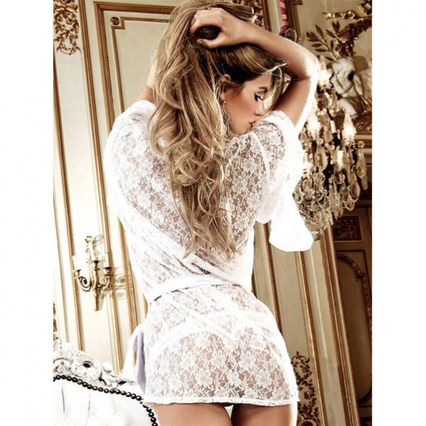 Baci Kimono Blonde Hvid  2