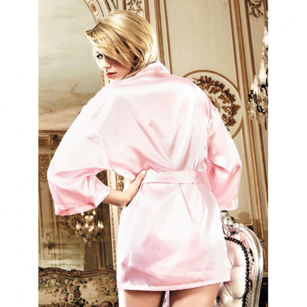 Baci Kimono Satin Rosa  2