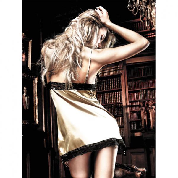 Baci Minikjole Satin/Blonde Guldfarvet  2