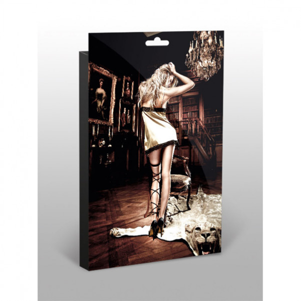 Baci Minikjole Satin/Blonde Guldfarvet  4