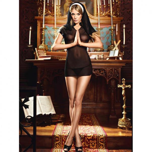 Frækt Nonne Kostume