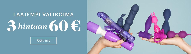 Seksilelut - 3 hintaan 60 €
