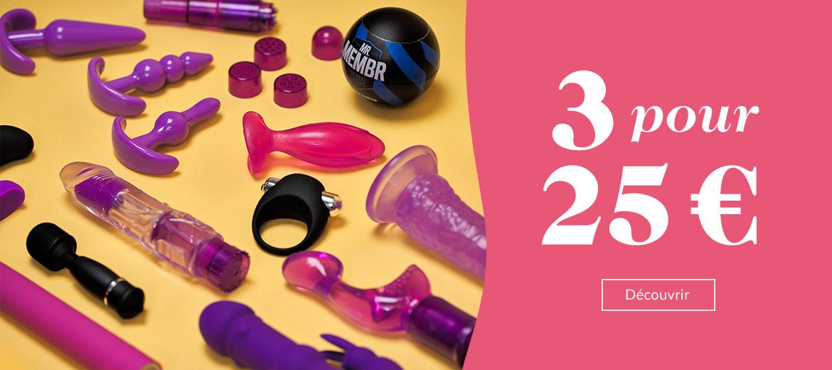 Sex toys - 3 pour 25 €