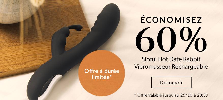 Soldes d'Automne - Sinful Hot Date Vibromasseur Rabbit Rechargeable