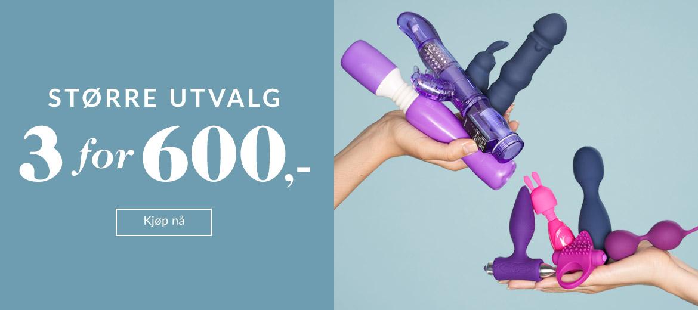 Sexleketøy - 3 for 600 kr.