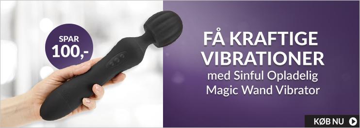 Sinful Opladelig Magic Wand Vibrator