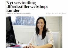 Berlingske Business DK: Nyt servicetiltag tilfredsstiller webshops kunder