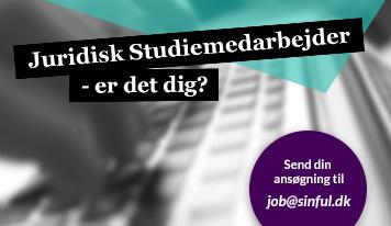 Sinful søger Juridisk Studiemedarbejder - Er det dig?