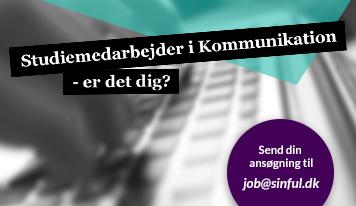 Sinful søger Studiemedarbejder i kommunikation - Er det dig?