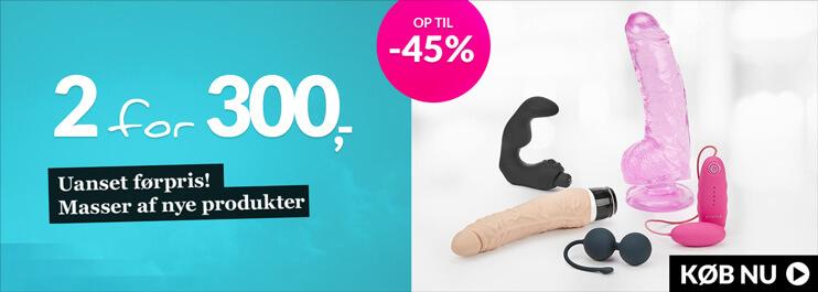 Udsalg - 2 for 300 kr