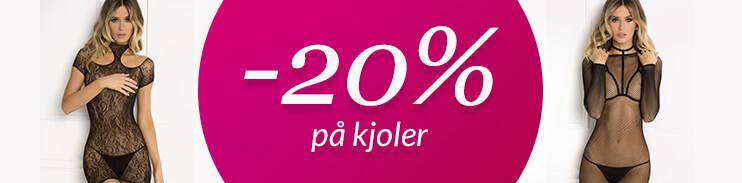 20% på kjoler