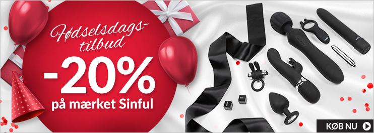 Fødselsdag -20% på Mærket Sinful