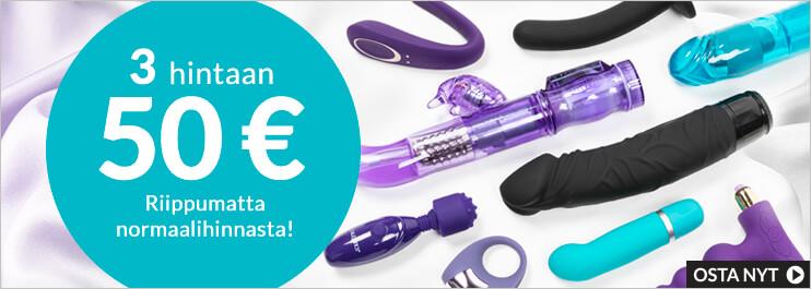 Seksilelut - 3 hintaan 50 €