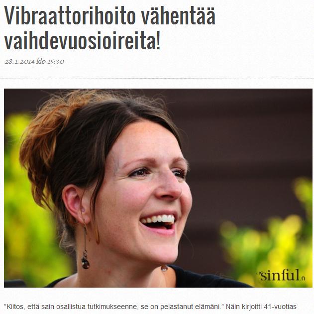 Vibraattorihoito vähentää vaihdevuosioireita!
