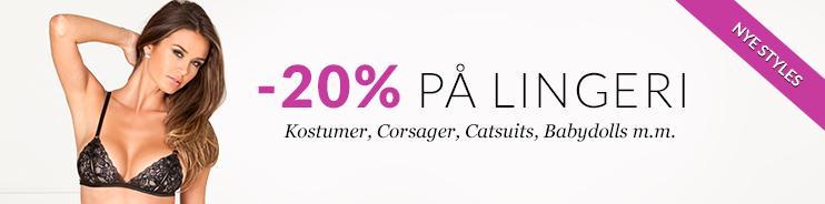 -20 % på lingeri