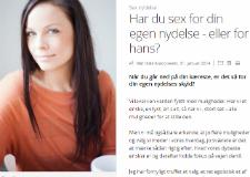 Mathildes klumme på ALT for Damerne: Har du sex for din egen nydelse eller for hans
