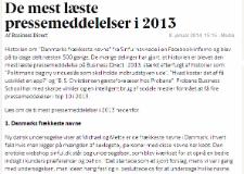 Årets mest læste pressemeddelelser i 2013 – Business.dk