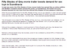 Bolagsfakta.se - Fifty Shades of Grey movie trailer boosts demand for sex toys in Scandinavia