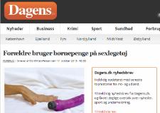 Forældre bruger børnepenge på sexlegetøj - artikel fra dagens.dk