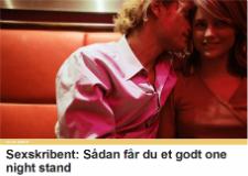 Tv2.dk: Sådan får du et godt one night stand