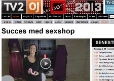 Succes med Sexshop - Sinful.dk i TV2 Østjylland