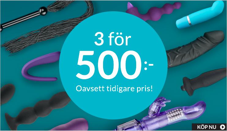 Sexleksaker - 3 for 500 kr.