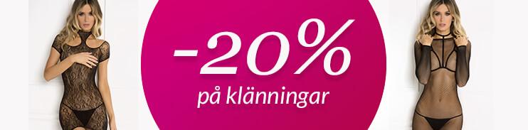 20% på klänningar