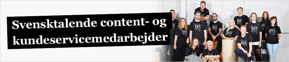 Svensktalende content- og kundeservicemedarbejder